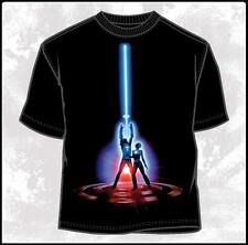 Original Tron Movie Poster Logo Black Adult T-Shirt SIZE LARGE, NEW UNWORN