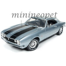 AUTOWORLD AWSS114 CHRISTINE MOVIE 1967 CHEVROLET CAMARO 1/18 SILVER BLUE
