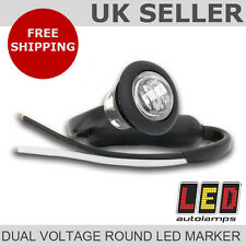 Dual Voltage 12v / 24v LED Round White Front Marker Light *5 YEAR WARRANTY*