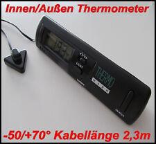 Innen/Außen Thermometer KFZ-AUTO/LKW/BOOT/HAUS BÜRO -DIGITAL +Licht -50/+70 °C