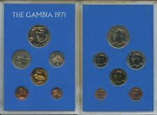 GN654 - Gambia Kursmünzensatz 1971 PROOF PP KMS KM#PS3 Coin Mint Set BOX