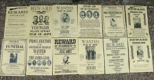 Jessie James & Youngers WILD WEST POSTERS, Novelty reproductions, SET ,