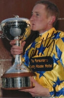 PAUL HANAGAN HAND SIGNED 6X4 PHOTO CHAMPION JOCKEY  HORSE RACING 1.