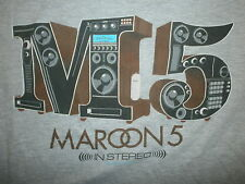 MAROON 5 CONCERT T SHIRT Adam Levine 2 Sided 2015 In Stereo Tour Cities Dates M