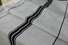 GRAIN SACK RARE BLACK vintage homespun ~ linen cotton mix grainsack cotton linen