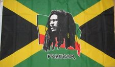 BOB MARLEY FREEDOM FLAG ON JAMAICA NOTTING HILL CARNIVAL 1.5m X 0.9m