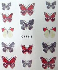 Accessoire ongles : nail art - Stickers décalcomanie - motifs papillons