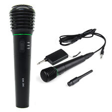 2 in 1 Wired & Wireless Handheld Microphone Receiver Unidirectional Black WS