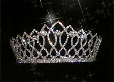 Shiny Crystal Bridal Tiara Crown Silver Rhinestone Pageant Wedding Headband Comb