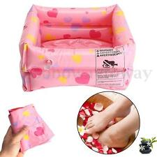 Inflatable Portable SPA Foot Bath Wash Basin Feet Health Care Massage Pink