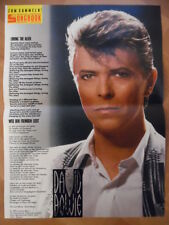 DAVID BOWIE loving the Alien BRAVO A4 Songbook Clipping 165