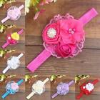 Flower Rhinestone Headband Elastic Hair Band For Baby Girls Kid Hair Accessories