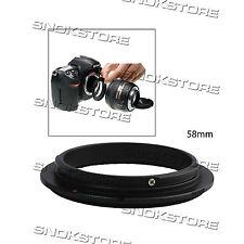 58mm REVERSING RING FOR CANON CAMERA BLACK ANELLO INVERSIONE MACRO DSLR NUOVO