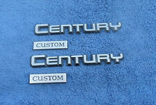 1980-90'S BUICK CENTURY CUSTOM REAR FENDER EMBLEMS OEM (4 PIECES)
