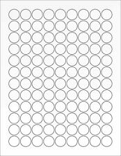 "6 SHEETS 3/4"" BLANK CLEAR MATTE STICKERS LASER  LABELS ~ 8-1/2""x11"" Sheets"