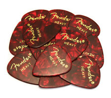 098-0351-909 (12) Fender Heavy Red Moto Celluloid 351 Guitar Picks