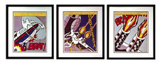 """AS I OPENED FIRE"" 3 Piece Set of Offset Lithographs By Roy Lichtenstein"