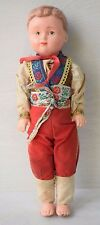 Vintage Collectible Russian Doll of Boy in Traditional Clothing Old Plastic