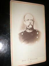 Cdv old photograph Prince Otto Von Bismarck of Germany  c1870s