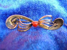 belle, antique Broche___835 argent__avec perle corail__barre Broche __