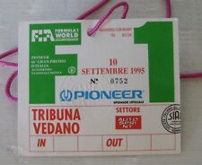 F1 monza 1995 ticket tribuna vedano, originale