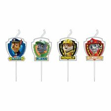 4 x Assorted Birthday Cake Candle Set Paw Patrol Birthday Party Decoration