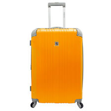 "Beverly Hill Country Club Malibu 28"" Orange Lightweight Suitcase Spinner Luggage"