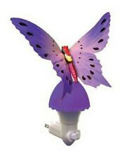 Fiber Optic Butterfly Night Light LED Color Changing Lamp - Purple