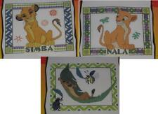 DISNEY LION KING CROSS STITCH KIT LOT  SIMBA PORTRAIT & NALA PORTRAIT & TIMON