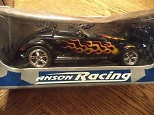 Plymouth Prowler With Flames Anson 1:18 Die Cast Hot Rod Car NIB - Dented Box