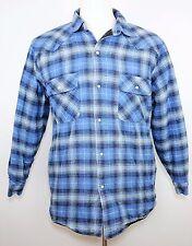 C.E. SCHMIDT WORKWEAR Blue Plaid Heavy Lined Long Sleeve Button Shirt - MEN'S L