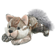 New Brown Wolf Plush Camo Realtree AP Patterned Stuffed Toy Small Gray Wild Dog