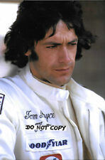 9x6 Photograph ,Tom Pryce , Shadow Portrait 1974 Grand prix Season