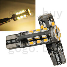 2pcs Canbus Error Free 30 SMD T10 LED Light 194 W5W Turn Tail Bulb Warm White