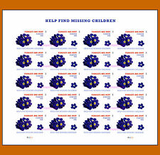 4987a Missing Children Imperf Pane of 20 from Press Sheet No Die Cuts