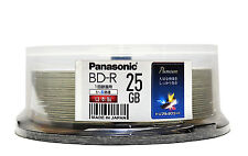 25 Panasonic Bluray Disc BD-R 25GB 4x blu ray Original MID Code + Pro Hard Coat
