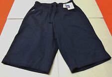 NWT Ladies Russell Athletic Pull On Cotton Shorts w Drawstring Navy Blue Sz Sm