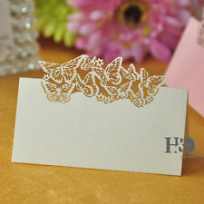 36pcs Ivory Butterfly Laser Cut Wedding Party Table Name Place Cards Favor Decor