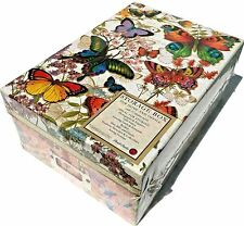 pUNCH sTUDIO Storage Shoe Memory Box w/10 Divider Cards ~ Botanical Butterfly