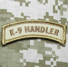 K9 HANDLER TAB DESERT POLICE DOG TACTICAL USA MILITARY VELCRO MORALE PATCH
