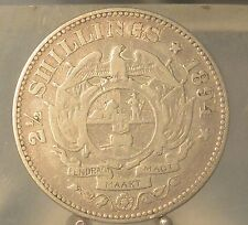 1894 South Africa Silver 2 1/2 Shilling, Old Silver World Coin