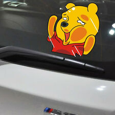 Squashed Pooh Cute Car Decal Winnie Cartoon Sticker Waterproof Window Laptop PC