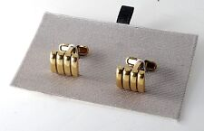 Kenneth Cole Gold Plated Brass Ridged Finish Cufflinks Jewelry NWOT On Card