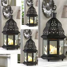 "Lot of 4 Moroccan Lantern Candleholder Wedding Centerpieces 12"" Tall"