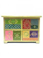 Oriental India Moroccan Drawer Mini Ceramic Cabinet Spice Jewellery Handpainted