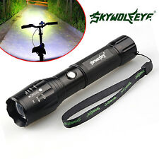 Tactical 5000 Lumens CREE XML T6 Zoomable LED Flashlight Focus Zoom Light Torch