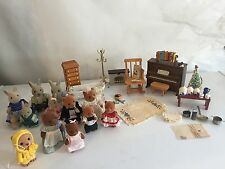 1986 Maple Town Sylvanian Calico Critters BanDai Furniture Bears Fireplace Piano