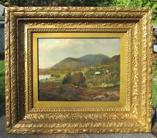 BIG NAME IMPORTANT ANDERS ASKEVOLD(1834-1900)NORWAY OIL PAINTING FRIDALEN BERGEN