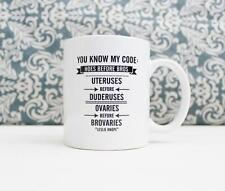 Hoes Before Bros Quote Ceramic Coffee Mug gift Cup Parks and Recreation TV show
