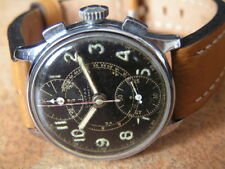 Vint. German Military CIVITAS / MOERIS Wrist Chronograph Venus Cal.170 Early WW2